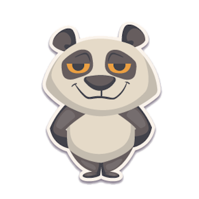 Panda - Stickers. messages sticker-0