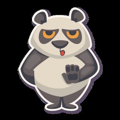 Panda - Stickers. messages sticker-3