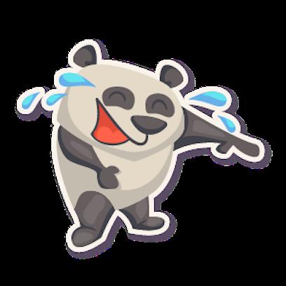 Panda - Stickers. messages sticker-8