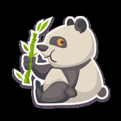 Panda - Stickers. messages sticker-2