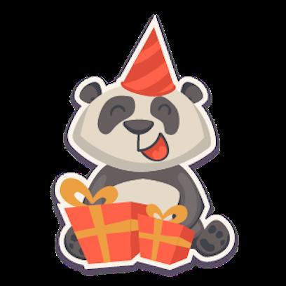 Panda - Stickers. messages sticker-9