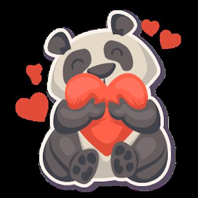 Panda - Stickers. messages sticker-6