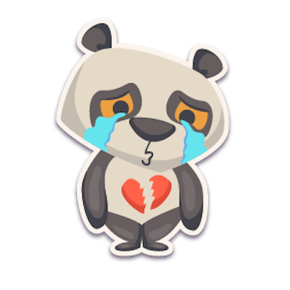 Panda - Stickers. messages sticker-10