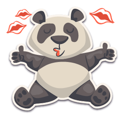 Panda - Stickers for iMessage. messages sticker-7