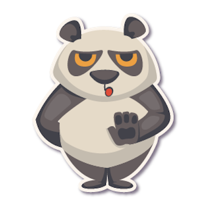Panda - Stickers for iMessage. messages sticker-3