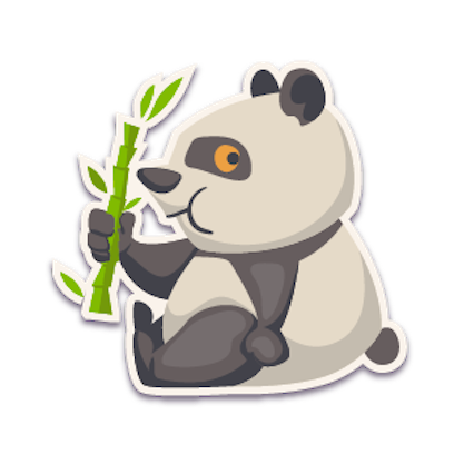 Panda - Stickers for iMessage. messages sticker-2