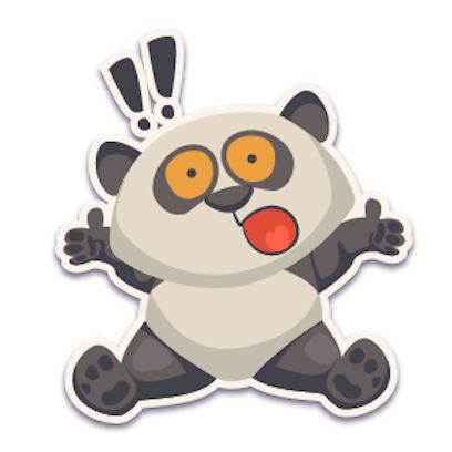 Panda - Stickers for iMessage. messages sticker-4