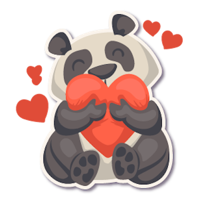 Panda - Stickers for iMessage. messages sticker-6