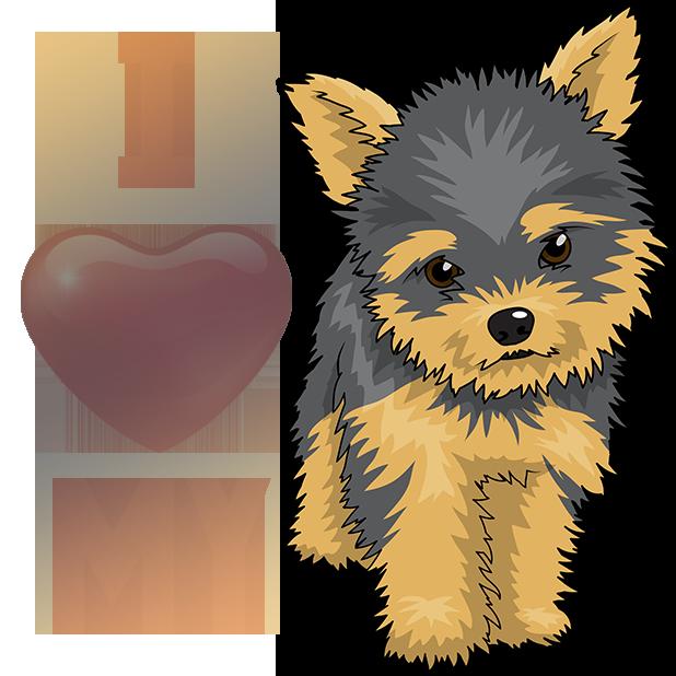 Yorkiemoji - Yorkie Emoji & Stickers messages sticker-9