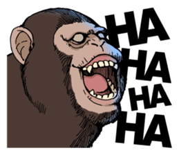Funny Animals Laugh Emoji messages sticker-2