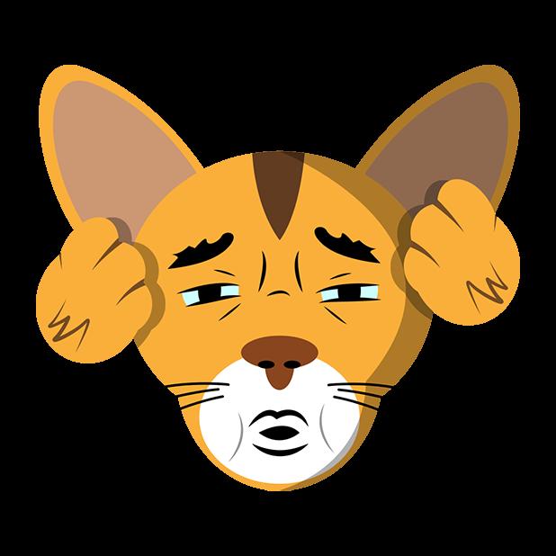 MeowMoji - Hilarious Cat Emojis & Stickers! messages sticker-9