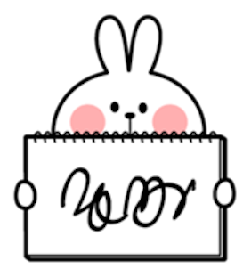 Cool Rabbit and Smile Face messages sticker-1