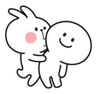 Cool Rabbit and Smile Face messages sticker-7