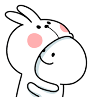 Cool Rabbit and Smile Face messages sticker-2