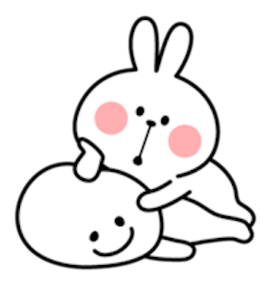 Cool Rabbit and Smile Face messages sticker-3