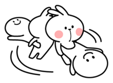 Cool Rabbit and Smile Face messages sticker-5