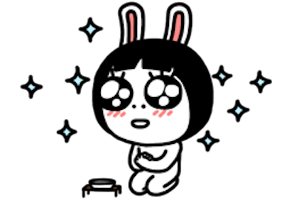 Sis Rabbit messages sticker-2