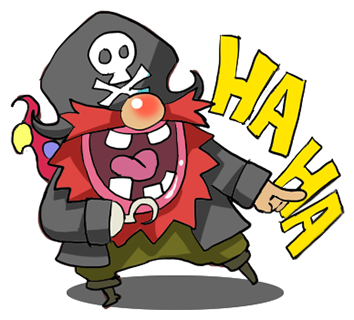 Pirate Red Beard messages sticker-2