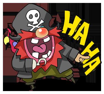 Pirate Red Beard messages sticker-2