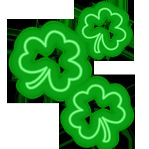 Shamrocks Plus Animated Neon messages sticker-8