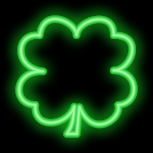 Shamrocks Plus Animated Neon messages sticker-7