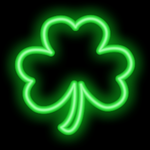 Shamrocks Plus Animated Neon messages sticker-3