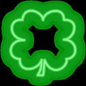 Shamrocks Plus Animated Neon messages sticker-4