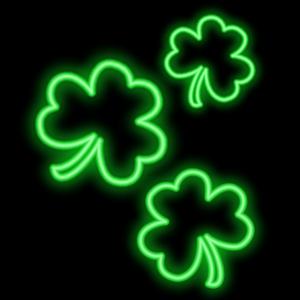 Shamrocks Plus Animated Neon messages sticker-11