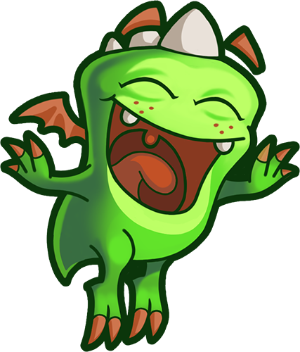 Droll Dragon - Cute stickers messages sticker-1