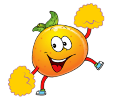 Emoji Oranges Stickers messages sticker-5