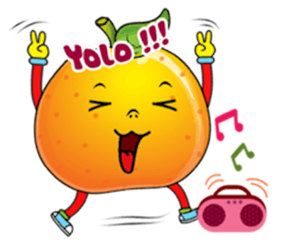 Emoji Oranges Stickers messages sticker-9