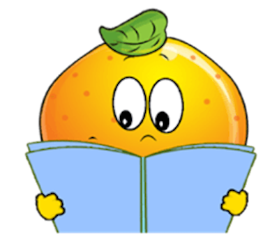 Emoji Oranges Stickers messages sticker-4