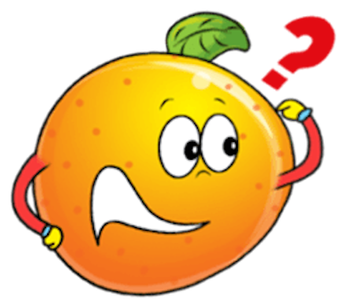 Emoji Oranges Stickers messages sticker-1