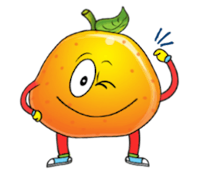 Emoji Oranges Stickers messages sticker-3