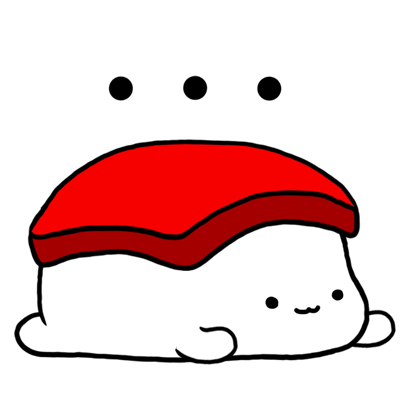 Sleeping Sushi Sticker messages sticker-4