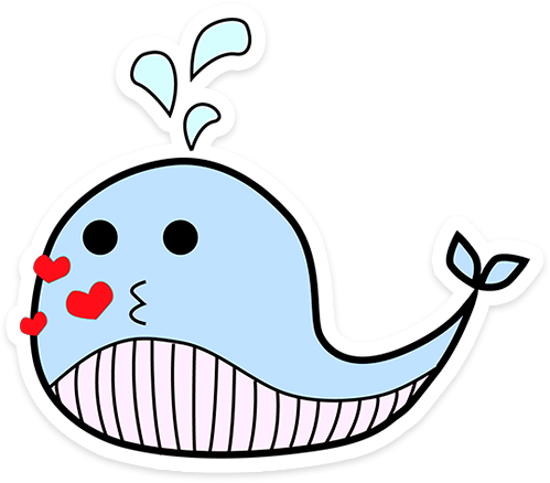 Blue whale Cayley messages sticker-9