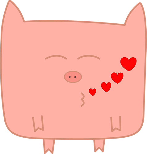 Pink Pig - Cute stickers messages sticker-6