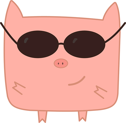 Pink Pig - Cute stickers messages sticker-3