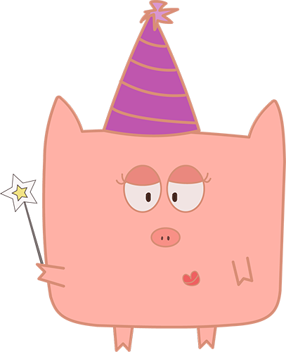 Pink Pig - Cute stickers messages sticker-5