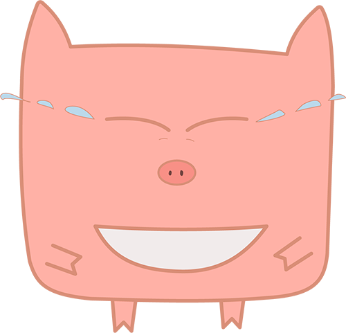 Pink Pig - Cute stickers messages sticker-2