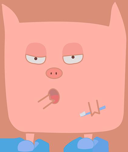 Pink Pig - Cute stickers messages sticker-8