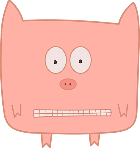 Pink Pig - Cute stickers messages sticker-1