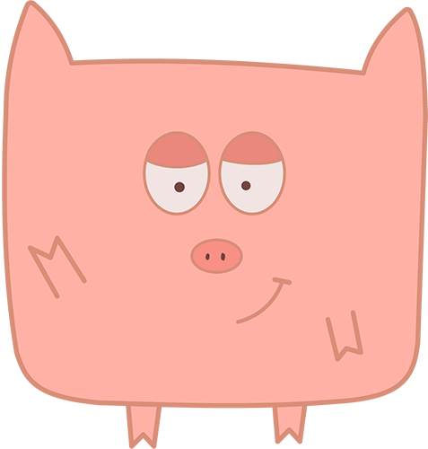Pink Pig - Cute stickers messages sticker-0