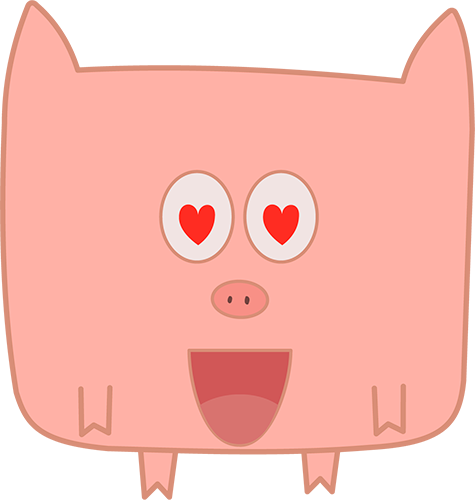 Pink Pig - Cute stickers messages sticker-7