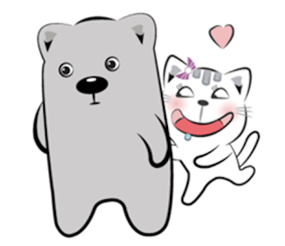 Cat and Bear Lovely messages sticker-10