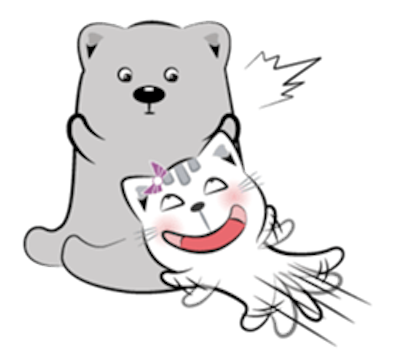 Cat and Bear Lovely messages sticker-9