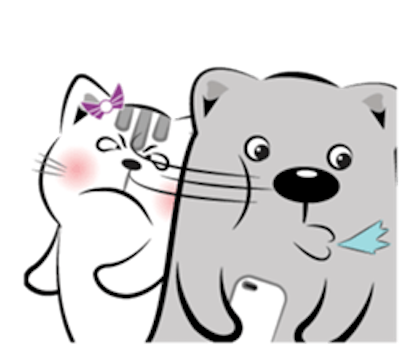 Cat and Bear Lovely messages sticker-1