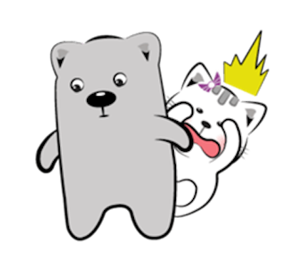 Cat and Bear Lovely messages sticker-11