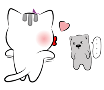 Cat and Bear Lovely messages sticker-2