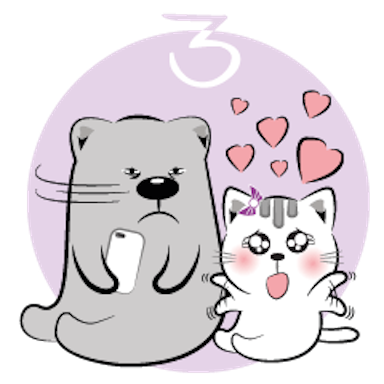 Cat and Bear Lovely messages sticker-3